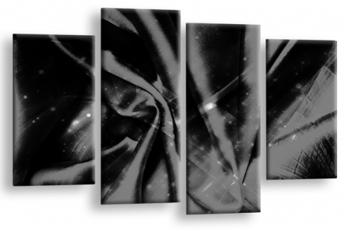 Modern Abstract Canvas Wall Art 2 Tone Grey Black Picture